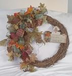 Live Within Your Means Wreath