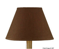 "Casual Classics Chocolate Brown 14"" Lampshade"