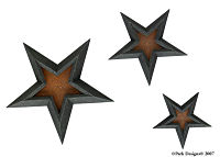 Black Star set of 3 Stars