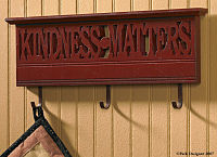 Kindness Matters Wall Decor w/3 hooks