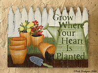"Gardener's Journal Wall Decor ""GROW"""