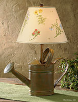 Watering Can Lamp Rustic
