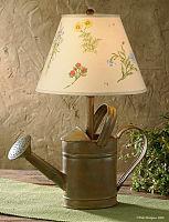 Watering Can Lamp Rustic