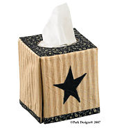 Black Star Tissue Box Cover
