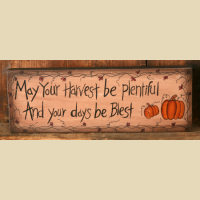 Harvest Message Block / Sign