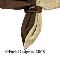 Glass Napkin Ring  Brown