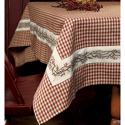 Burgundy Berry Vine Table Cloth