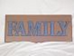 FAMILY wood wall plaque