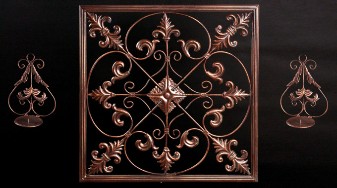 Biltmore Metal Crest Wall Decor