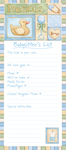 Baby Sitter List Pad - BOY