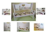 Hand Painted Children's Bench