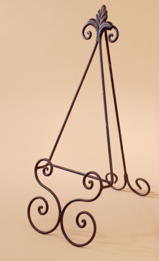 Metal Scroll Easel - Garden Finish