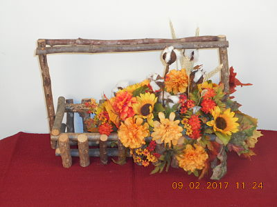 Branch Basket fall floral