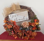 Give Thanks fall wreath