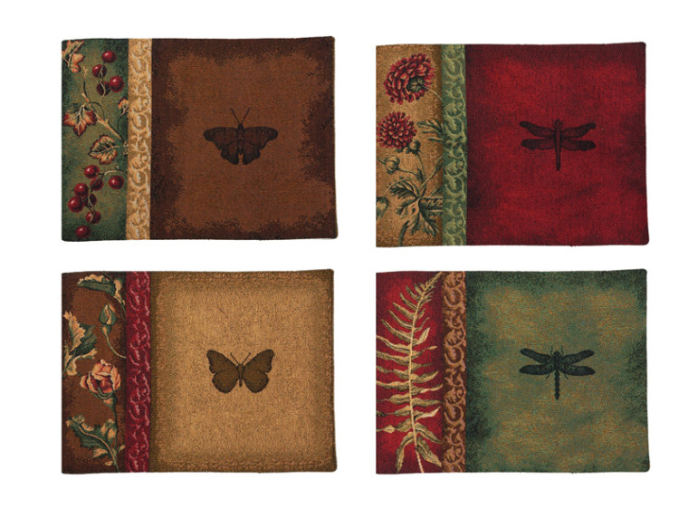 Floral & Fauna Placemats - Set of 4