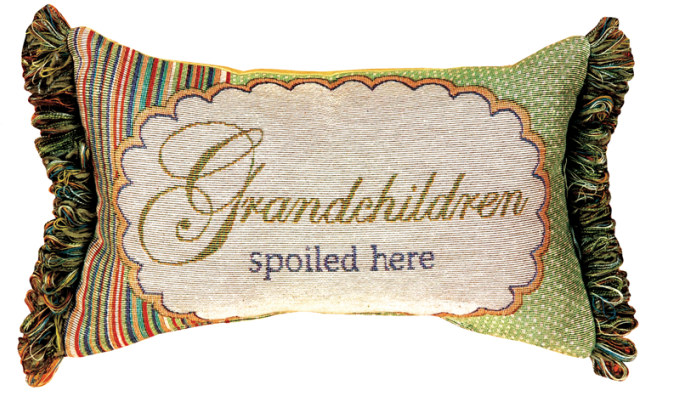 Grandchildren Spoiled Here Word Pillow