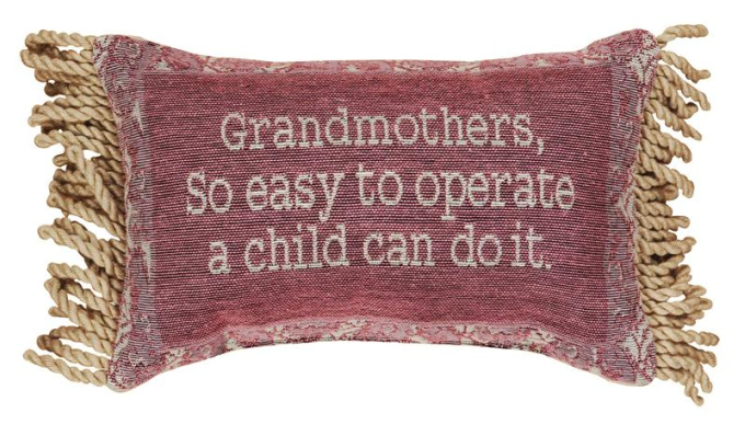 Grandmother's Are So Easy Word Pillow
