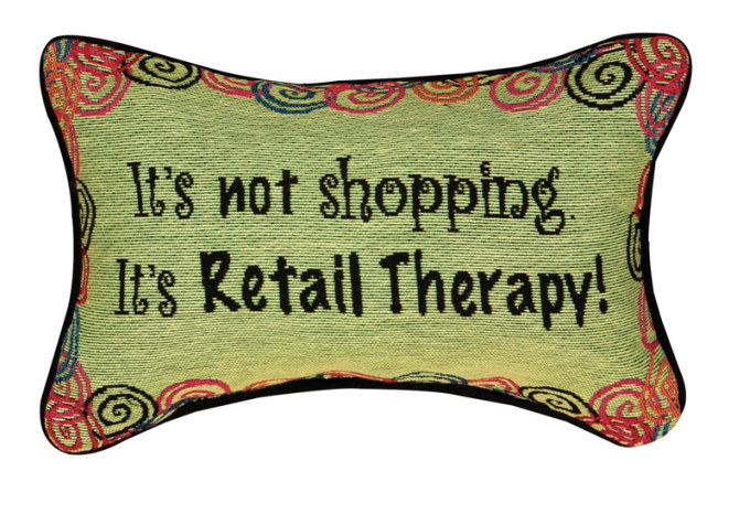 It's Not Shopping - Word Pillow