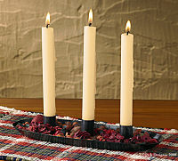 Candle Pan w 3 taper holder