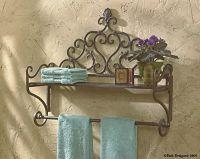 New Orleans Shelf w/towel bar