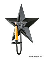 Black Star Sconce