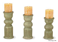 Gardener's Journal Pillar Candle Holder Set