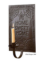 Home Sweet Home Punched Sconce