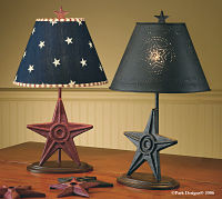 Black Star Lamp & Shade 18.5""