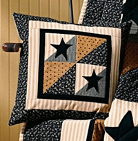 Black Star Quilted Pillow