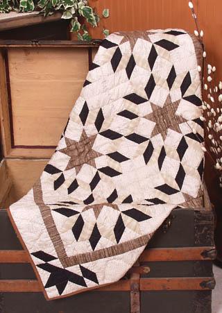 Sepia Tone Star Quilt