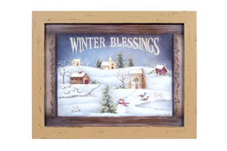 Winter Blessings Wall Decor