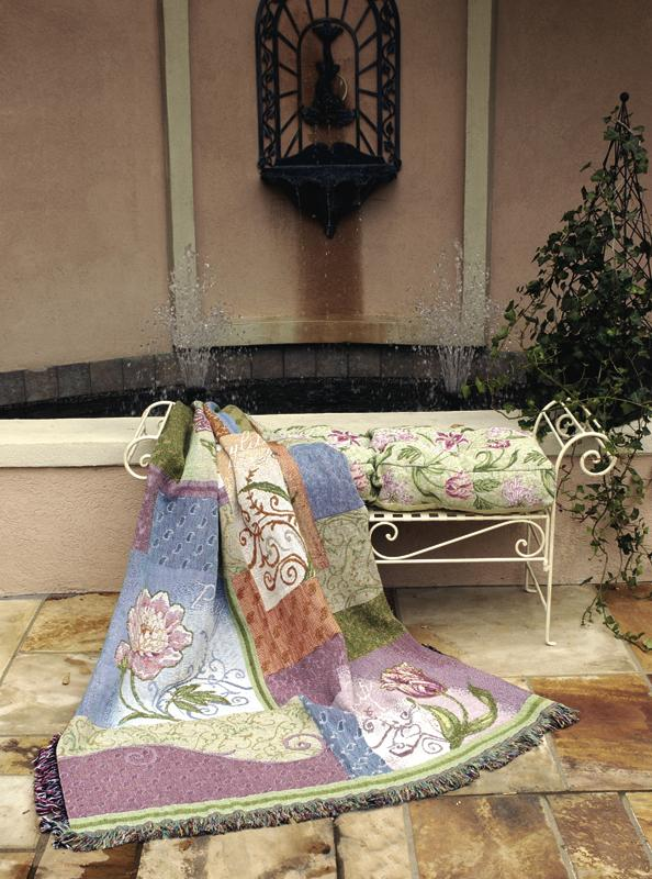 Stately Floral Tapestry Throw