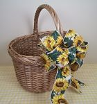 Basket with SunFlower Bow