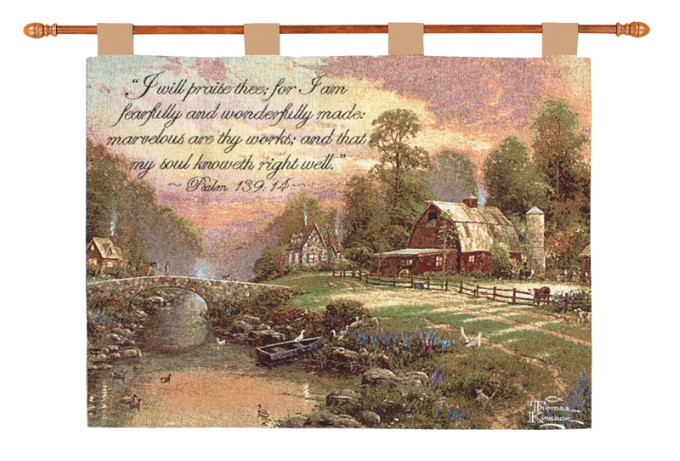 Sunset at Riverbend Farm Wallhanging