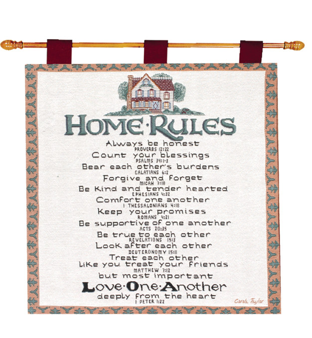 Home Rules Wall Hanging