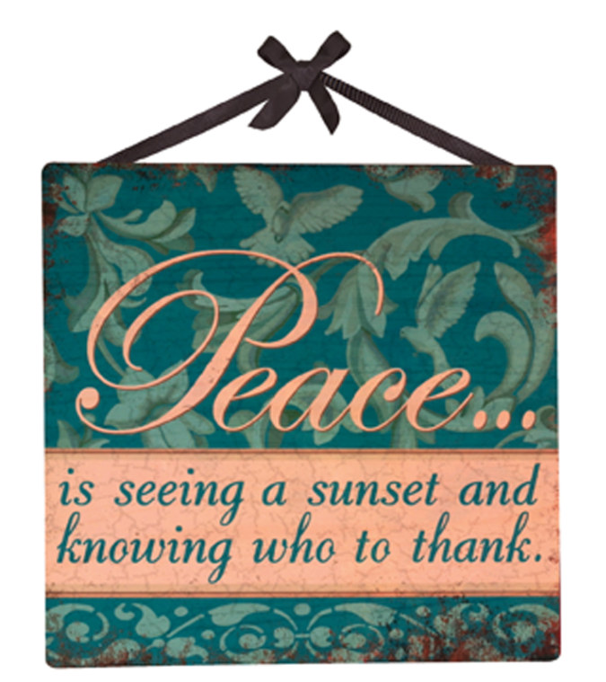 Peace Word Sign