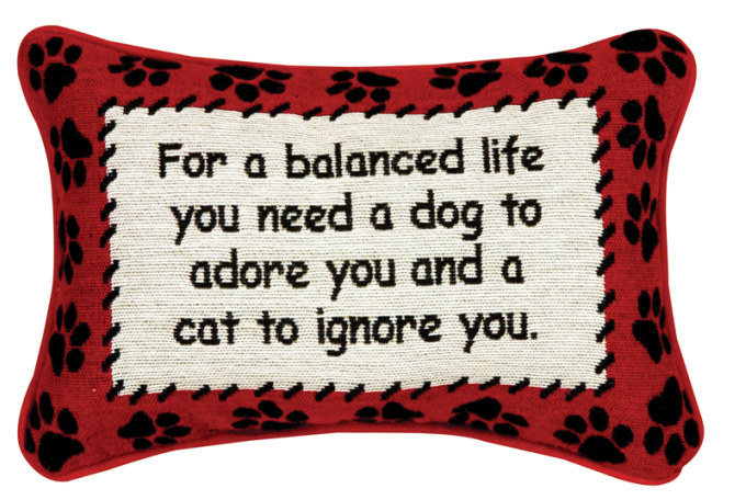 For A Balanced Life Word Pillow