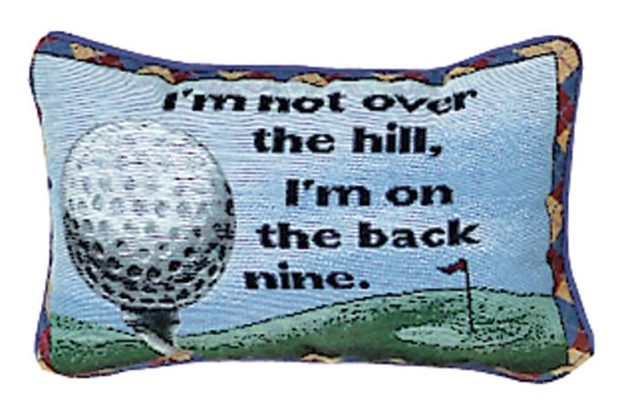 Back Nine Word Pillow